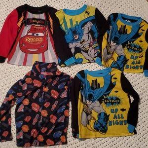 5 lot long-sleeve sleep shirt Size 3t-5t